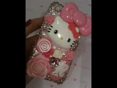 Hello Kitty Swarovski Bling Crystal Deco iPhone Case 3g.3gs