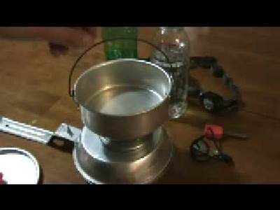 Hobo.Alcohol Stove - Ultralight Backpacking - Make It In 3 Minutes!