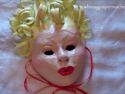 How 2 Make a Marilyn Monroe Inspired Mask