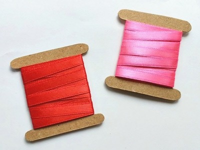 How To Create Simple Cardstock Ribbon Spools - DIY  Tutorial - Guidecentral