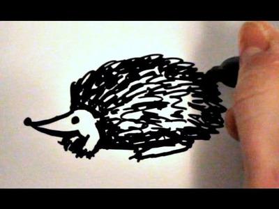 How to Draw a Cartoon Hedgehog