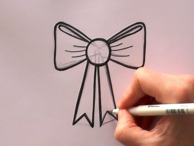 How to Draw a Cartoon Ribbon Bow