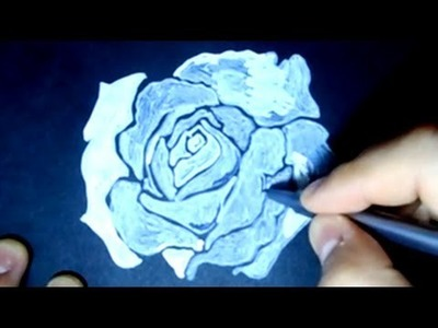 How to Draw a Rose on Black Paper