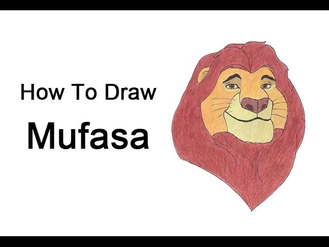 How to Draw Mufasa from the Lion King