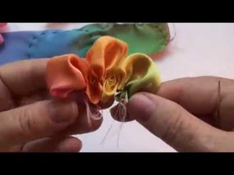 How To Make a 3 Petal Ribbon Flower