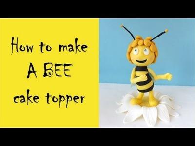 How to make a bee cake topper tutorial. Jak zrobić pszczółkę Maję z masy cukrowej