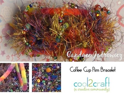 How to Make a Bracelet from a Cardboard Coffee Cup Rim by Candace Jedrowicz