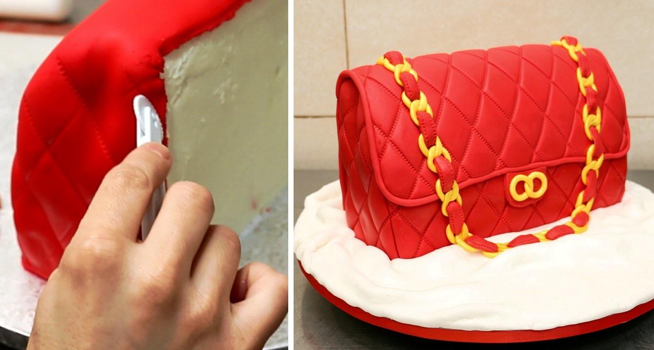 How To Make A Fashion Bag Cake by CakesStepbyStep