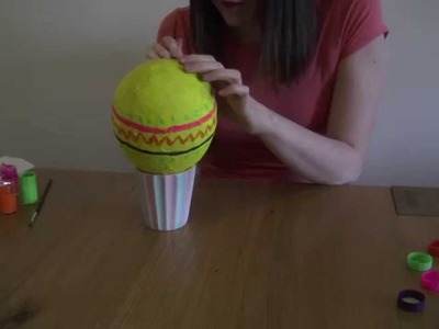 How to: make a paper mache Easter egg