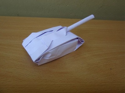 How to Make a Paper Tank - Easy Tutorials