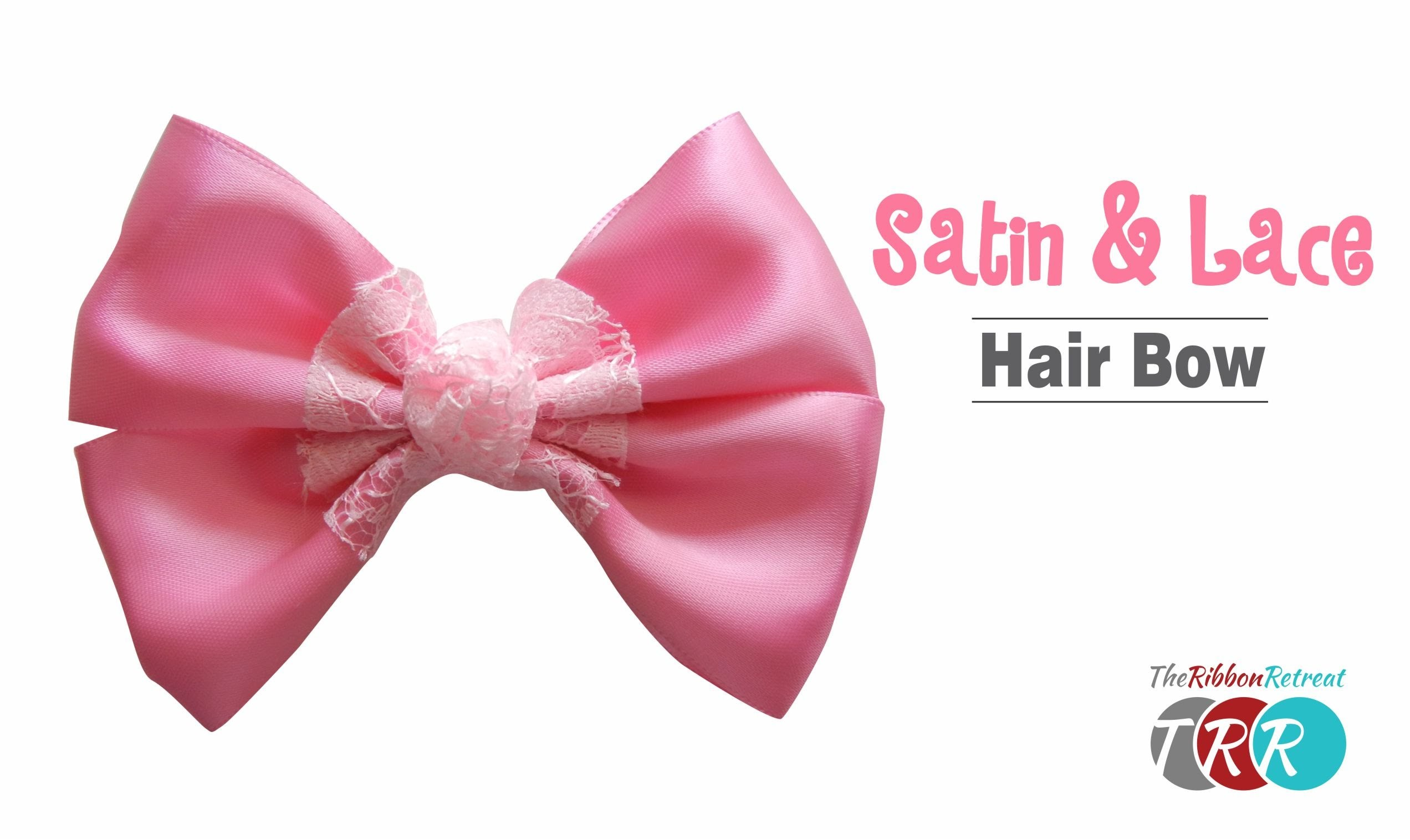 How to Make a Satin and Lace Hair Bow - TheRibbonRetreat.com