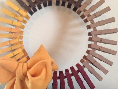 How To Make a Simplistic Thanksgiving Wreath - DIY Home Tutorial - Guidecentral