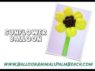 How To Make A Sunflower Balloon - Balloon Animals Palm Beach