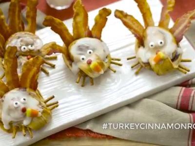How To Make Cinnamon Roll Turkeys