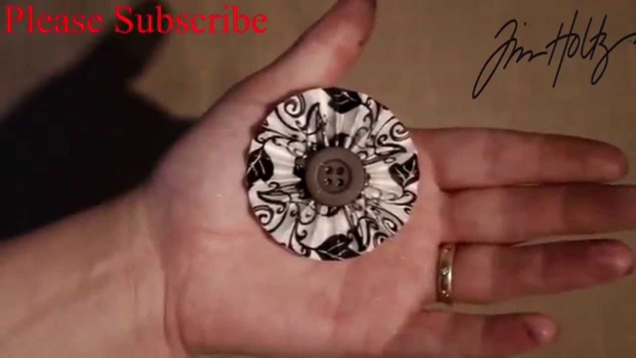 How to make mini paper rosettes from Tim Holtz Dies