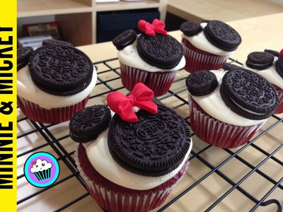 How to make Minnie and Mickey Mouse Cupcakes - Pinch of Luck