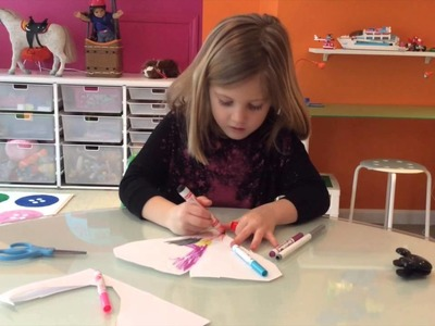 How to Make Paper Valentines. Simple by 5 year old girl.  Really good.