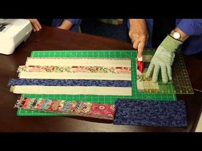 "How to Make Quilting Quickly's ""London Lawns"" Quilt From Super Soft Small Florals"