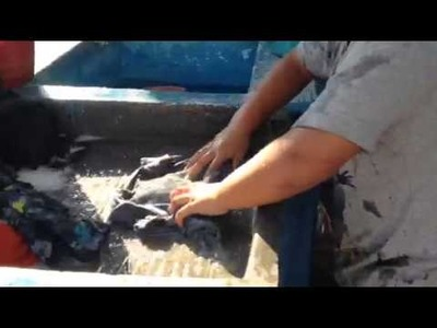 How to wash clothes by hand in Mexico
