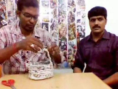 Live Workshop By Fevicryl Hobby Ideas, paper basket weaving.