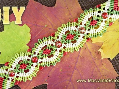 Macrame Autumn. Fall Bracelet Tutorial
