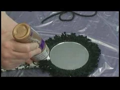 Making Hand Mirrors : Applying Trim Around a Hand Mirror