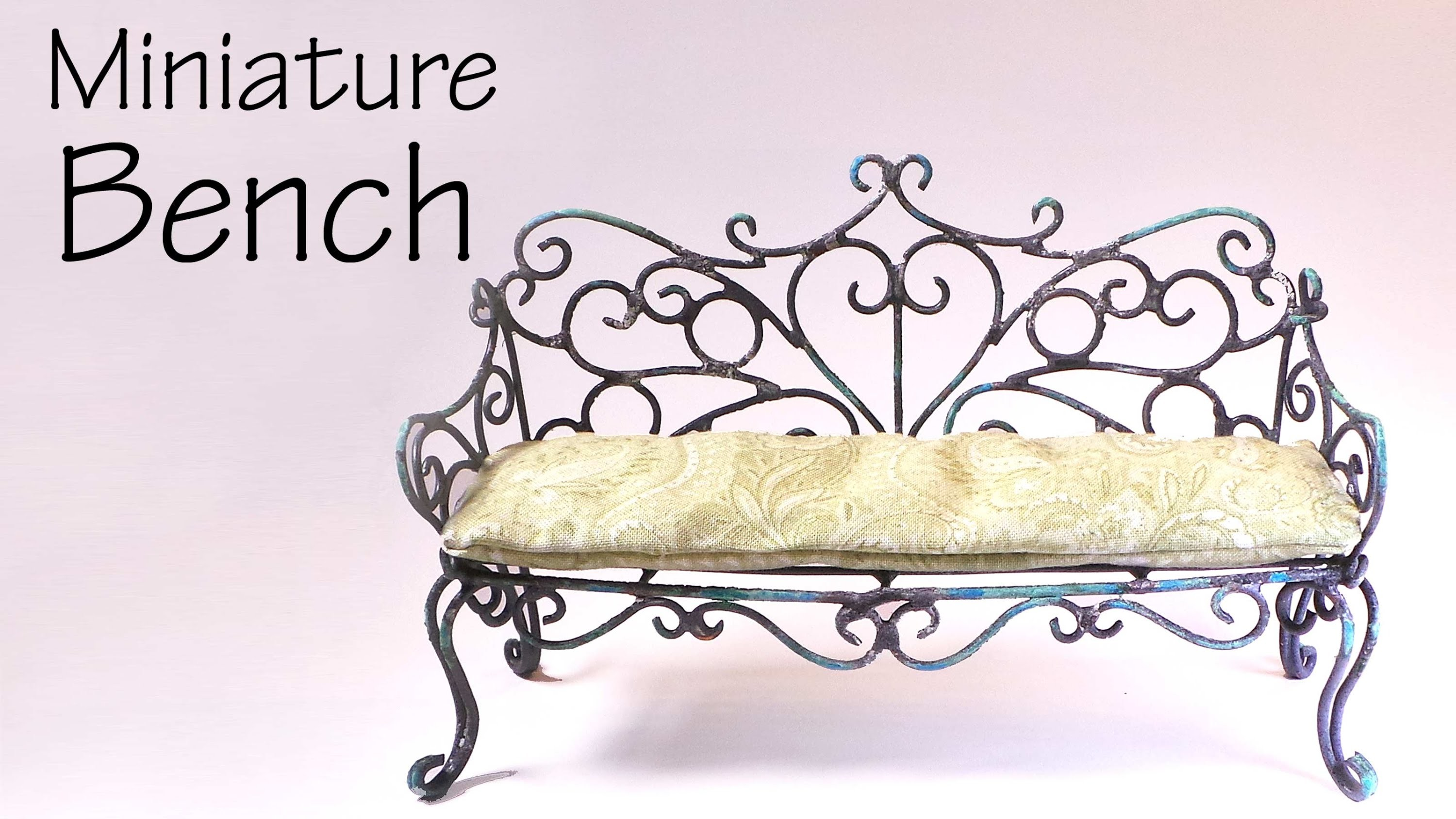 Miniature Furniture; Vintage.Romantic Bench Tutorial - Dolls.Dollhouse