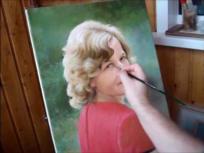 Oil  painting portrait demo by Yakov Dedyk. Art portrait painting in oil.