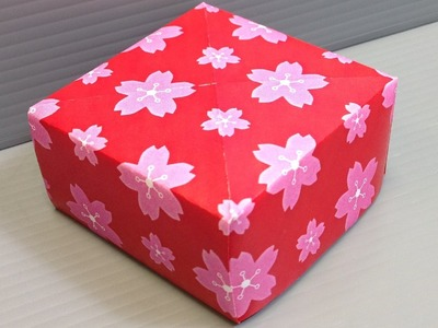 Origami Sakura Cherry Blossoms Pattern Paper - Print Your Own!