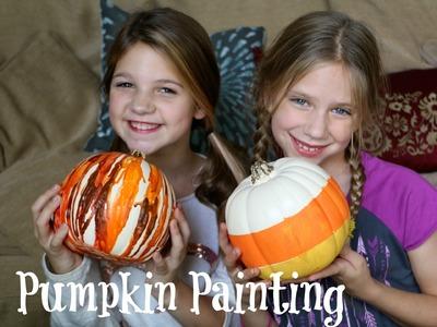 Painting Halloween Pumpkin How To DIY Arts & Crafts | Dress Up Your Pumpkins | Jazzy Girl Stuff