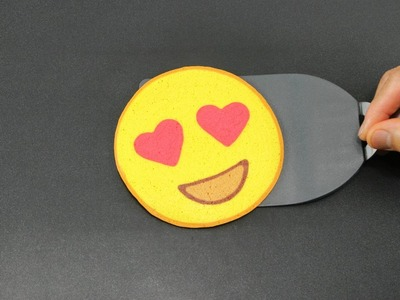 Pancake Art - Emoji (Heart Eyes) by Tiger Tomato