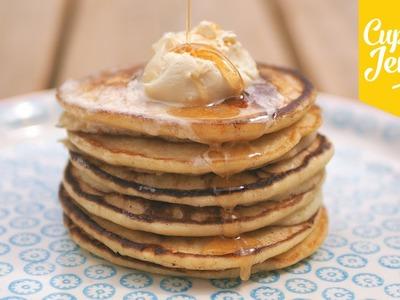 Pancake recipe! How to make Fluffy Ricotta Hotcakes | Cupcake Jemma