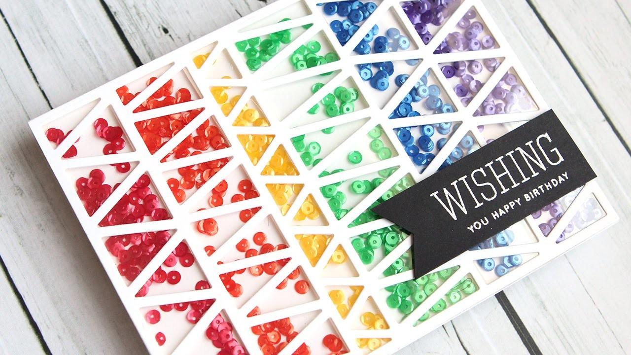 Rainbow Shaker Card (Full Card Shaker)