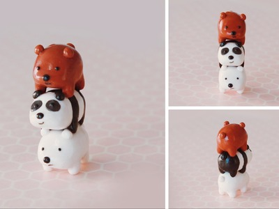 Stack of Bears Polymer Clay Tutorial | We Bare Bears #bearstack