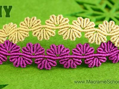 Wavy Flower Lace Bracelet - Macrame Tutorial