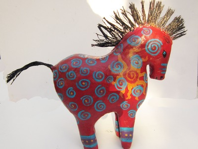 Year of the Horse with Gin's Lil' Characters Paper Mache Horse Sculptures