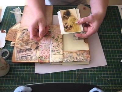 Basic paper bag mini album matting and tag ideas