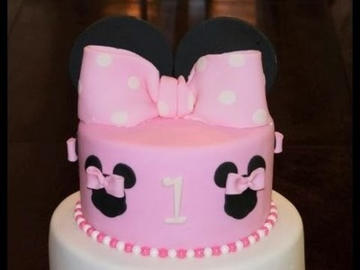 Cake decorating - how to make a minnie mouse bow with ears