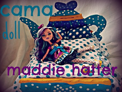 Como hacer cama para muñecas ever after high. how to make doll bed ever after high