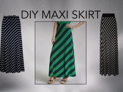 DIY Maxi Skirt, Half Circle Skirt, Sewing project for beginners