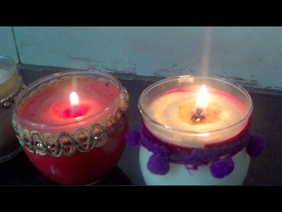DIY Scented Candles with Store Bought and Natural Home Made Scents (Cinnamon)