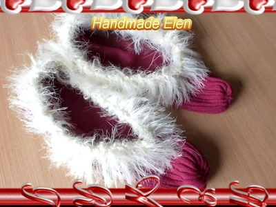 DIY tutorial Super Easy Slippers  For BeginnersHow To Make Cosy House Shoes