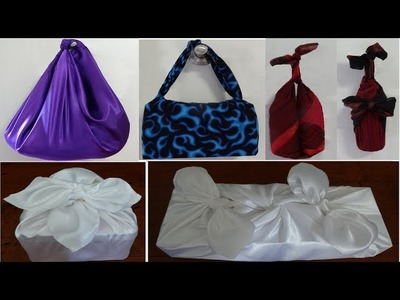 Furoshiki :Japanese method of carrying items and wrapping gifts with just cloth