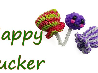 Happy Sucker Tutorial by feelinspiffy (Rainbow Loom)