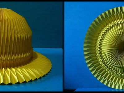 Hat Paper. Folding Corrugation -Origami-