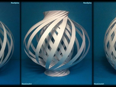 Helix Column and Twist Spiral ball. 3 Paper Lamp Models Cut and Fold
