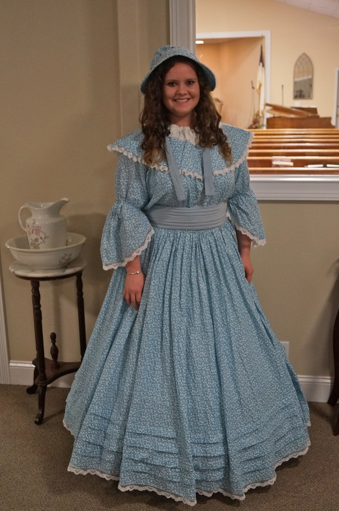 How I used a Pillowcase to Transform Dress and Hat