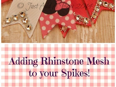 HOW TO: Add Rhinstone Mesh to your Spikes by Just Add A Bow