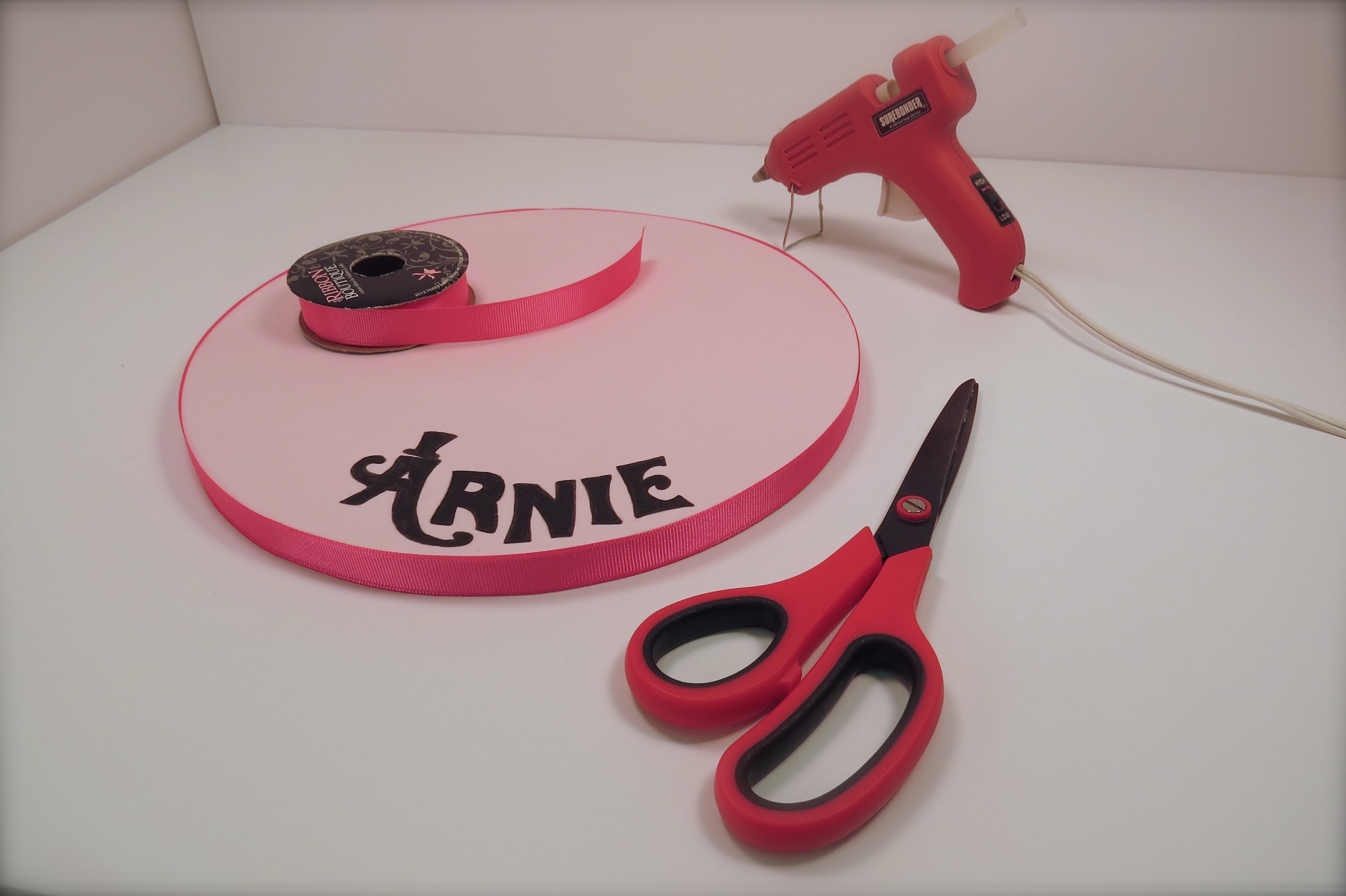 How To Add Ribbon To A Cake Board the Krazy Kool Cakes Way!