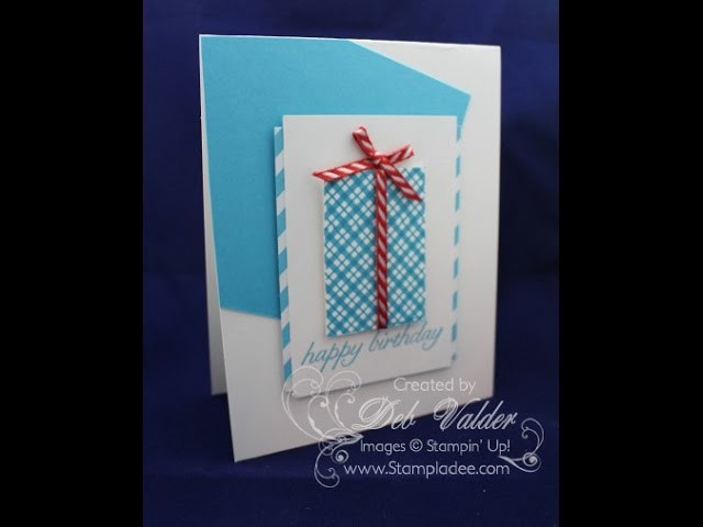 How to Create a Plaid Pattern using Your Presents Stamp Set with Deb Valder
